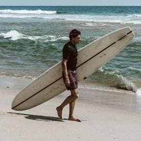 Our fit model surfing in the Bo Boardie in Building Blocks.