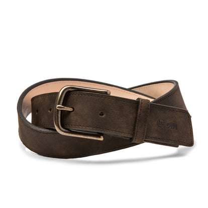 The Stitched Belt in Espresso Grizzly