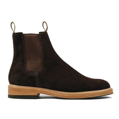 The Ranch Boot in Weatherproof Chocolate Suede