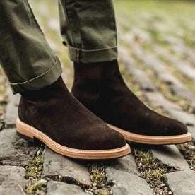 The Ranch Boot in Weatherproof Chocolate Suede: Alternate Image 5