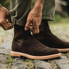 The Ranch Boot in Weatherproof Chocolate Suede: Alternate Image 6