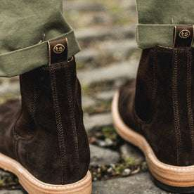 The Ranch Boot in Weatherproof Chocolate Suede: Alternate Image 4