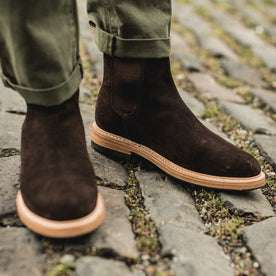 The Ranch Boot in Weatherproof Chocolate Suede: Alternate Image 8
