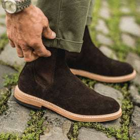 The Ranch Boot in Weatherproof Chocolate Suede: Alternate Image 2