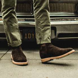 The Ranch Boot in Weatherproof Chocolate Suede: Alternate Image 3