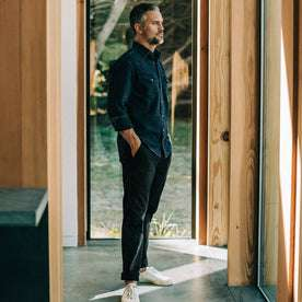 Our fit model in the Democratic Chino in Organic Coal in San Francisco.