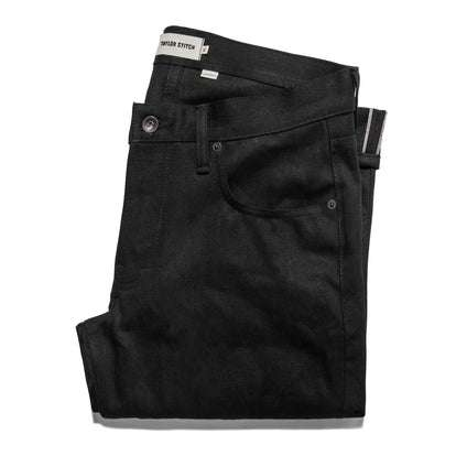 The Slim Jean in Kuroki Mills Black Selvage