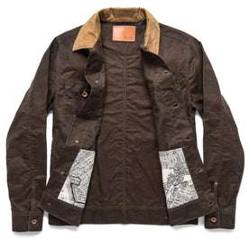 The Long Haul Jacket in Tobacco Waxed Canvas: Alternate Image 14