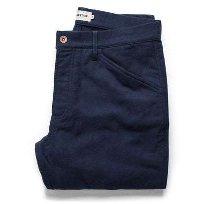 The Camp Pant in Navy Moleskin