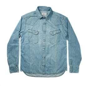 The Western Shirt in Washed Indigo: Alternate Image 8