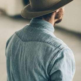 The Western Shirt in Washed Indigo: Alternate Image 4
