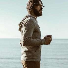 Jonny drinking coffee in the morning.