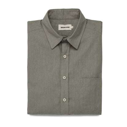The California in Olive Hemp Poplin
