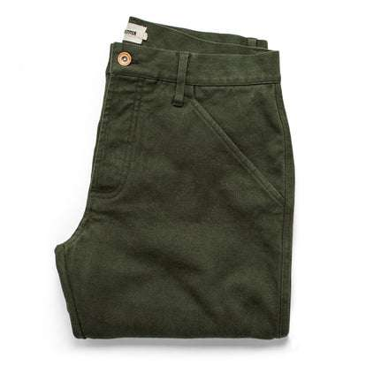 The Camp Pant in Dark Olive Tuff Duck