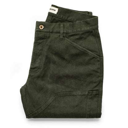 The Chore Pant in Dark Olive Tuff Duck