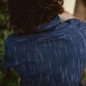 The Short Sleeve California in Navy Slub Stripe: Alternate Image 2
