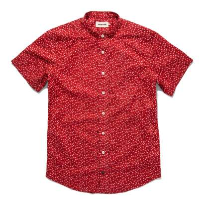 The Short Sleeve Bandit in Red Mini Floral