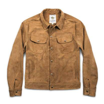 The Long Haul Jacket in Sand Weatherproof Suede