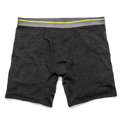 The Merino Boxer in Heather Black