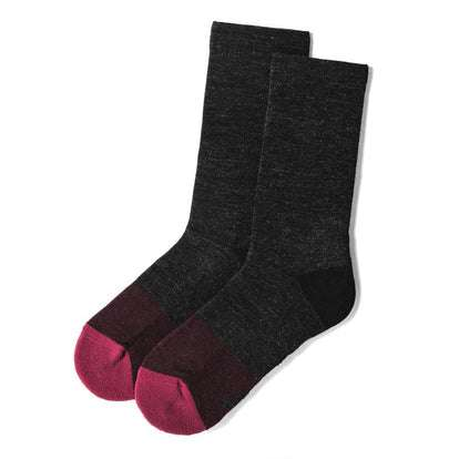 The Merino Sock in Dipped Maroon