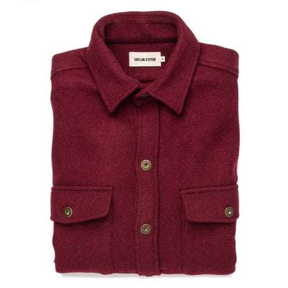 The Explorer Shirt in Burgundy