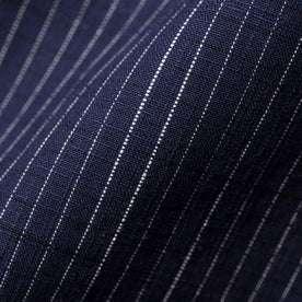 The Short Sleeve California in Navy Slub Stripe: Alternate Image 6
