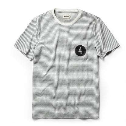 The Fourtillfour Heavy Bag Tee in Ash Stripe