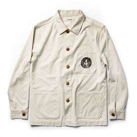 The Fourtillfour Ojai Jacket in Natural Reverse Sateen: Featured Image