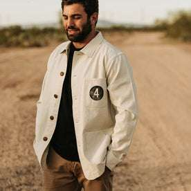 The Fourtillfour Ojai Jacket in Natural Reverse Sateen: Alternate Image 1
