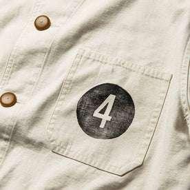 The Fourtillfour Ojai Jacket in Natural Reverse Sateen: Alternate Image 6