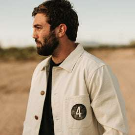 our fit model wearing the fourtillfour ojai jacket