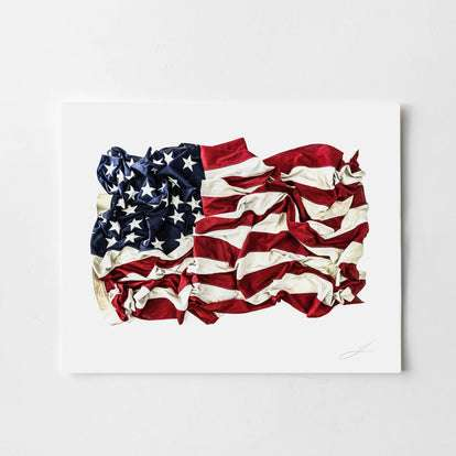 The Signed 48 Star Flag Print
