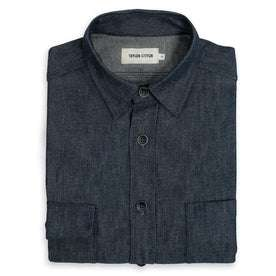 The Utility Shirt in Swift Mills Denim: Featured Image