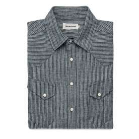 The Western Shirt in Hemp Stripe Chambray: Featured Image