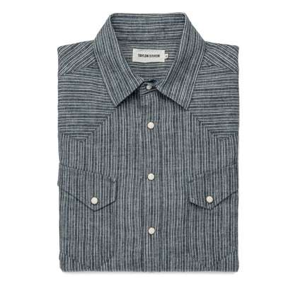 The Western Shirt in Hemp Stripe Chambray