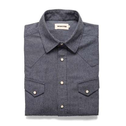 The Western Shirt in Indigo Stripe