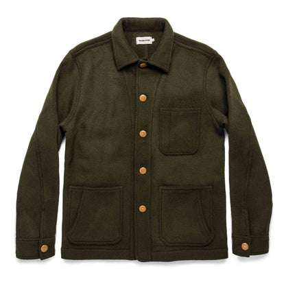 The Ojai Jacket in Olive Wool