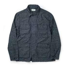 flatlay of The BDU Shirt Jacket in Indigo Slub