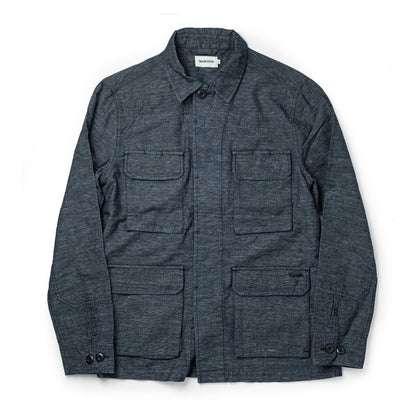 The BDU Shirt Jacket in Indigo Slub