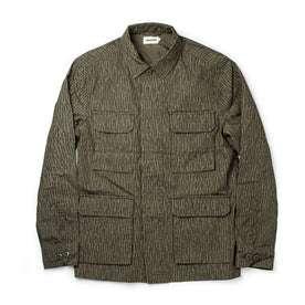 flatlay of shirt jacket