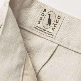 material shot of boss duck logo