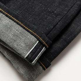 material shot of selvage cuff detail