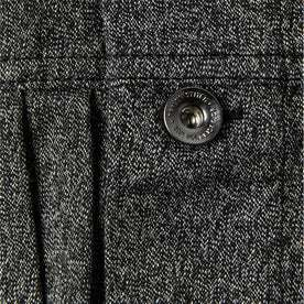 material shot of button and pleat