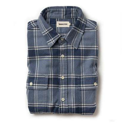 The Ledge Shirt in Navy Plaid