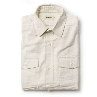 The Point Shirt in Natural Reverse Sateen