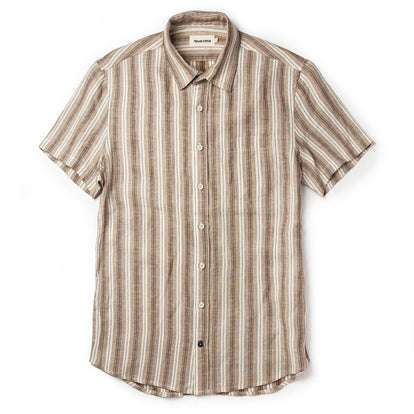 The Short Sleeve California in Desert Shadow Stripe