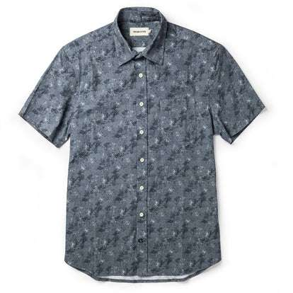 The Short Sleeve California in Ocean Sketch