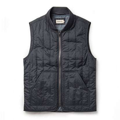 The Able Vest in Quilted Charcoal