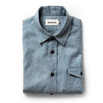 The Cash Shirt in Washed Hemp Chambray