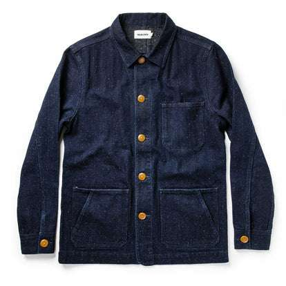 The Ojai Jacket in Indigo Herringbone